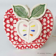 Ceramic Apple decoration Thank You teacher gift Pottery Apple pottery fruit