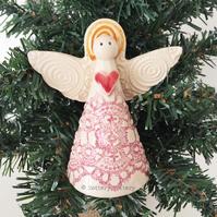 Ceramic Angel Christmas decoration Pottery angel