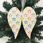 Ceramic Christmas Angel Wings Pottery angel guardian angel Christmas decoration
