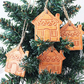 Small Ceramic gingerbread house decoration Christmas decoration