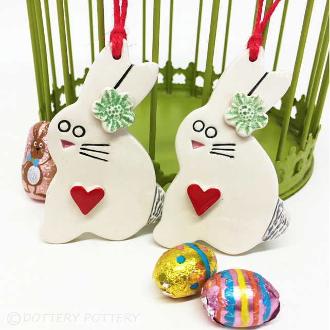 Pottery Easter Bunny decoration Ceramic Bunny Rabbit