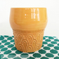 Ceramic beaker hand thrown mug pottery mug coffee cup tea mug retro
