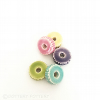 Set of bright ceramic beads pottery beads
