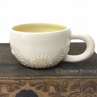 Ceramic cup hand thrown mug pottery mug coffee cup tea mug teacup