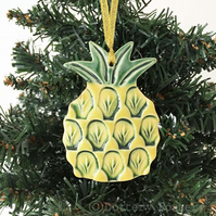 Ceramic Pineapple Christmas decoration Pottery Pineapple
