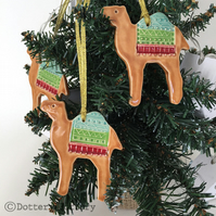 Ceramic Camel Christmas decoration Pottery Camel