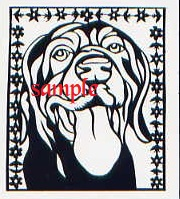 Black Labrador Dog Face Panting PDF  Cross Stitch Chart