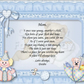 Personalised Poem Print for your Adopted Parents, choice of backgrounds