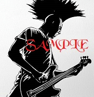 Punk Rock Guitarist Single Colour PDF Cross Stitch Chart