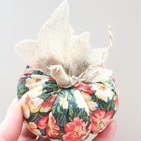 Floral Pumpkin Decorations