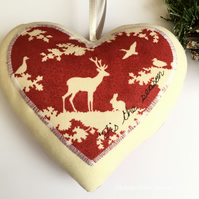 Red Luxurious Christmas Heart