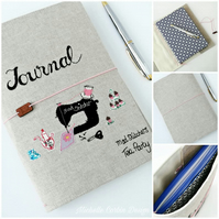 Seamstresses Journal, Embroidered Journal