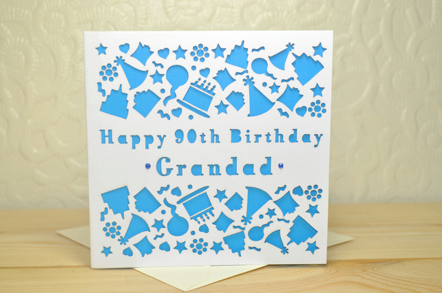 Personalised Laser Cut Birthday Card - Ideal for 18th, 21st, 30th, 40th, 50th