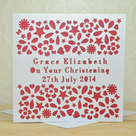 Personalised Naming Day Christening Day Card