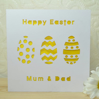 Personalised Laser Cut Easter Egg Card