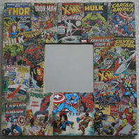 Marvel Superheroes Decoupage Mirror