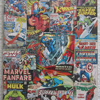 Marvel Ghost Rider, Hulk, Iron Man, Thor & more - A4 Decoupage Wall Hanging