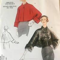 1950's Vogue jacket coat Sewing pattern