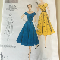 Vogue dressmaking  sewing pattern 1953 dress