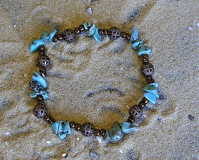 Egyptian Turquoise and bronze bracelet
