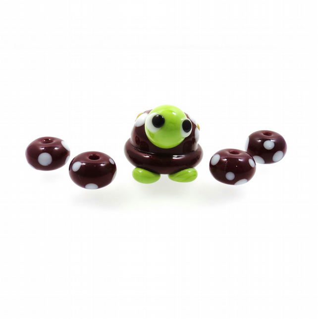 Torty the Tortoise Lampwork Focal Bead Set SRA GBUK