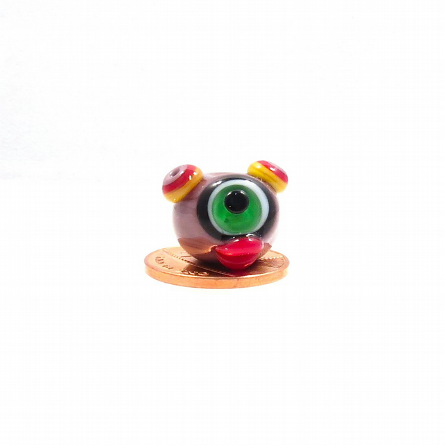 Penny the Martian Lampwork Focal Bead SRA GBUK