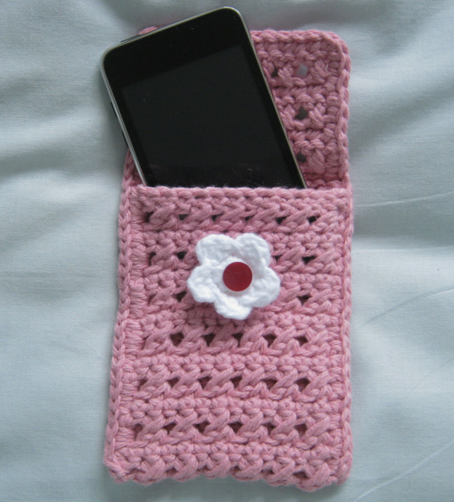 crochet cotton ipod, phone & gadget cosy