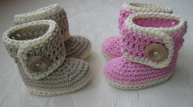 Button Up Baby Boots Crochet Pattern Folksy