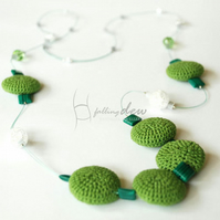 Green Drop Necklace Green Grass Drop Classic Style JEWELLERY