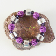 Crochet Bracelet, Jewelry, Handmade, Christmas Gifts, Gift For Her