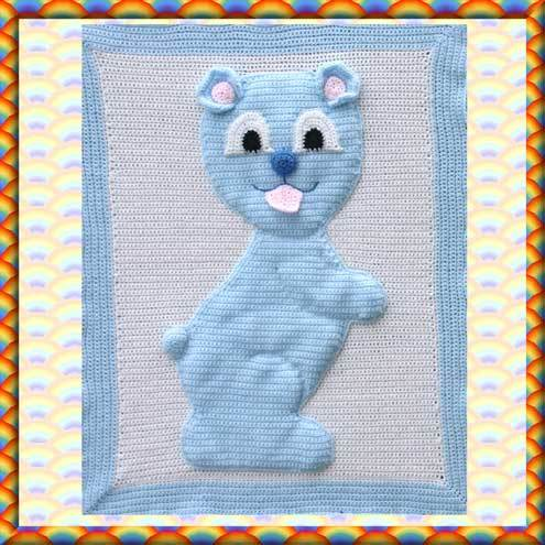 CROCHET BABY ANIMAL BLANKET - Crochet — Learn How to Crochet