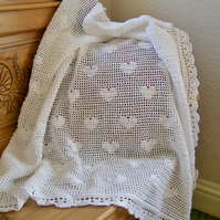 Crochet Baby Heart Shawl