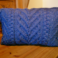 Hand Knitted Cable Cushion