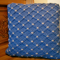 Smocked Hand Knitted Cushion