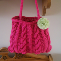 Small Cable Knit Bag