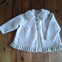 vintage baby cardigan with ruffle
