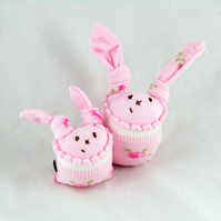 Mrs Pinkie and LIttle Mo Sock Bunnies