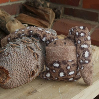 Shy Brown Softie Sock Bunny: MADE TO ORDER