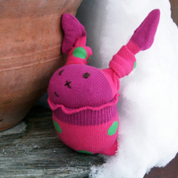 Pink Frilly Sock Bunny