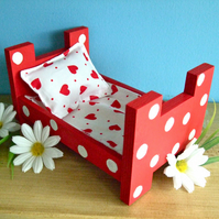 Wooden Toy Bed for Little Sock Bunnies