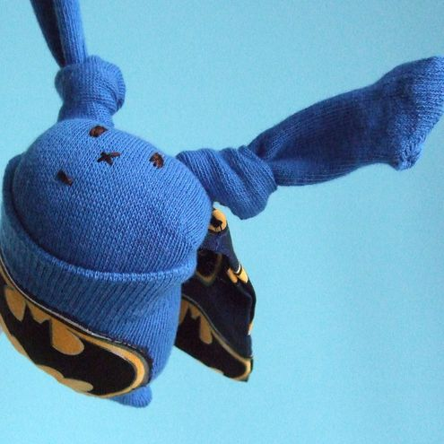 Batbun Batman Sock Bunny: MADE TO ORDER