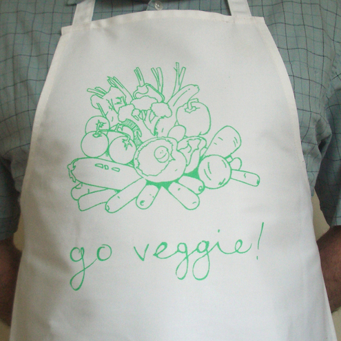 Go Veggie! - adult cotton apron