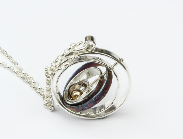 Kinetic Spinning Contemporary Orbit Pendant