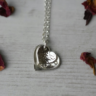 Sterling silver love heart necklace valentines day