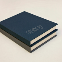 Hand bound notebook - Blue Folksy Notebook