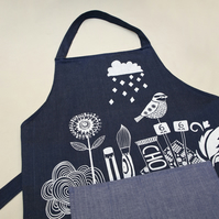 Hand Printed Craft Apron
