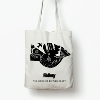 Folklore inspired Folksy screen printed tote bag by Hannah Madden