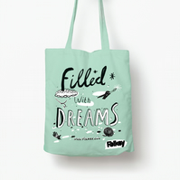 Official Folksy screen printed tote bag by Catherine McGinniss