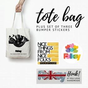 Tote Bag and Bumper Sticker Set 3 - with tote by Hannah Madden