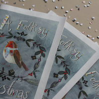 A Folksy Christmas Mini Zine
